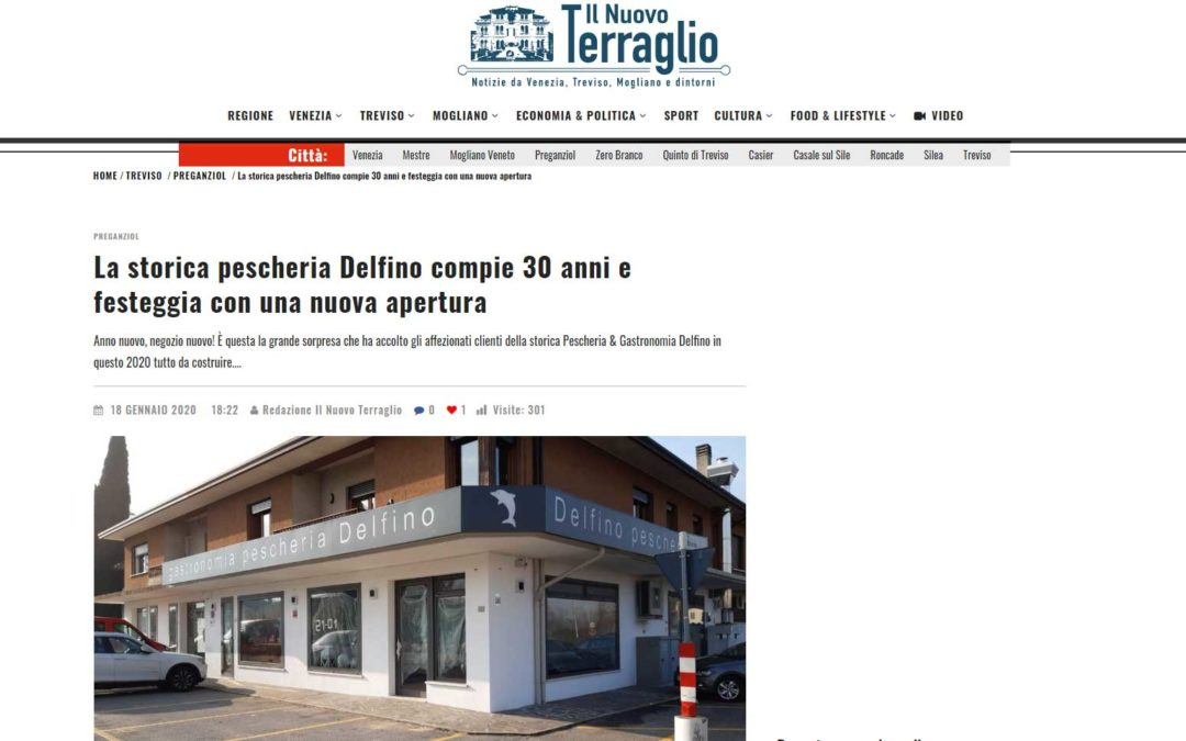 Nuova apertura Pescheria Gastronomia Delfino a Preganziol